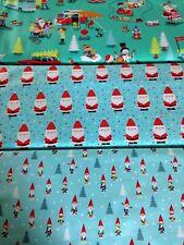 Michael Miller Christmas fabric Mini gnomes candy claus santa 1950s xmas