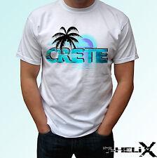 Creta-Camiseta Blanca de vacaciones superior Grecia Diseño-Para Hombre Para Mujer Niños Bebé Tamaños