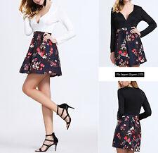 Vestito Mini Donna Fiori Stampati - Mini Dress Woman Flower Print 110155