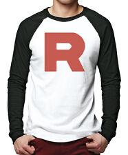R Team - Rocket Motto Anime Men Baseball Top