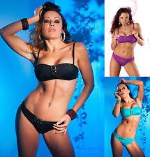 Women's BIKINI Set PUSH UP Style 2-PIECE SWIMSUIT PADDED Bikini Size 8-12 UK