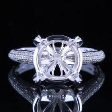 14K WHITE/ROSE/YELLOW GOLD DIAMONDS SPARKLING JEWELRY RINGS ROUND SEMI MOUNT