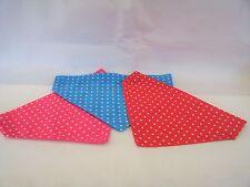 Polka dot/spotty/dotty bandana red, blue or pink slide on collar