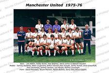 Man United 1975-1976 , FUll Team, Home Kit, Away Kit