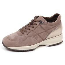 E4430 sneaker donna taupe/clay HOGAN INTERACTIVE scarpe H cucitura shoe woman