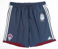 Adidas ClimaCool MLS Colorado Rapids Gray Soccer Shorts Mens NWT