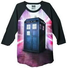 Doctor Who Warping Tardis 3/4 Sleeve Mens T-Shirt
