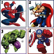 Super Hero Light Switch Stickers. (UK Standard)