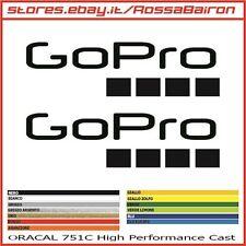 KIT 2 ADESIVI GoPro GO PRO mm.100 x 28 - DECALS STICKERS AUFKLEBER PEGATINAS