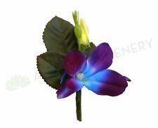 NEW Artificial Flowers/Plants Buttonhole - Blue Singapore Orchid - Ashlee