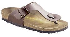 Birkenstock Ramses Zehensteg Sandale dunkelbraun Größe 38-49 normales Fußbett