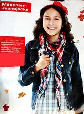 Mädchen Jeansjacke Denimjacke Freizeit Jacke