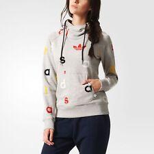 Adidas Originals French Terry Hoodie NWT Women's AJ7685 Sweatshirt Gray Rare