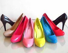 New Hidden Platform Stiletto High Heel Pumps Patent Pink Red Blue Lucy-16 5.5-10