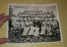 1930s NURSING SCHOOL CLASS GRADUATION NURSE PASADENA CALIFORNIA CA OLD PHOTO B&W