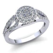 5carat Round Cut Diamond Ladies Bridal Cluster Halo Engagement Ring 14K Gold
