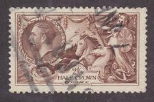 Great Britain Sc 179 used 1919 2sh6p olive brown Seahorses