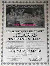 Publicite de 1926 SELS CLARKS POUR MAIGRIR BAIN FEMMES NUES A SUMMER NIGHT AD