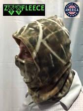 Fleece Hood Balaclava Face Mask Reversible Shadow Grass Camouflage Hunt Ski