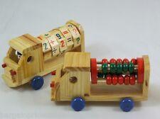 CAMION in legno divertente educativo matematica insegnamento Perline CALCOLATRICE Numeri