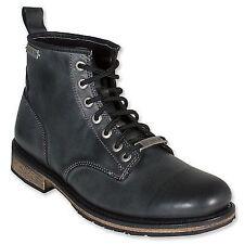 Harley Davidson Joshua Mens Double Tone Black Boot Chukka Leather  Biker Boots