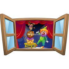 Sticker enfant fenêtre Les animaux du cirque réf 1029 1029