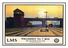 Willesden Railway Vintage Retro Oldschool Old Good Price Poster