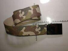 cintura 4 cm MIMETICA CON  fibbia  militare COLOR ARGENTO military belt man