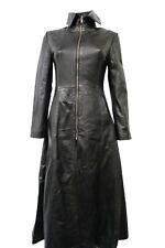 Nueva chaqueta señoras Gótico Gabardina Negro Estilo Casual De Cuero Verdadero Napa Diseño