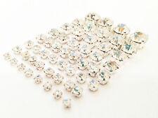 Clear Crystal Sew On Rhinestone Wedding Dress Sewing Stitch Diamante Silver AAA*