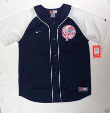 New York Yankees MLB Jersey Youth Boys Kids Nike T-Shirt Blue L XL