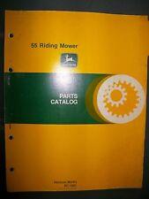 John Deere 55 Riding Mower 1979 : Parts Catalog