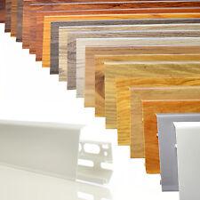 2,5m Sockelleisten 70mm PVC Fussleisten Laminat Kabelkanal Kunststoff Fußboden