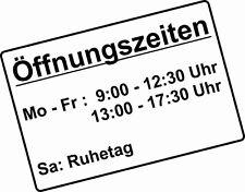 """Aufkleber """"Öffnungszeiten-Schild"""", 30x20 cm, für Schaufenster, Glastür, Laden"""