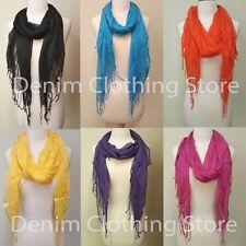 Women's Silk Solid Plain Shawl Wrap Scarves Long Wraps Shawl Beach Silk Scarf
