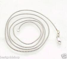 "1mm Glitter Coreana Popcorn Chain Necklace REAL 14K White Gold 16"" 18"" 20"" 22"""