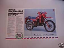 advertising Pubblicità 1984 MOTO FANTIC RAIDER 250 LC