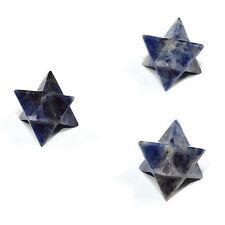 30mm Blue Sodalite 8 Point Merkaba Star Natural Sparkling Crystal - Madagascar
