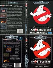 Ghostbusters Sega Mega Drive Genesis PAL Replacement Box Art Case Insert Cover