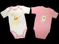 2 piece set bodysuit Winnie Pooh Disney Short Sleeve Pink 74 80 86 92 NEW