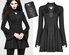 Mini robe évasée gothique lolita baroque broderie bohème rétro glamour PunkRave