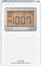 White Stereo Pocket Radio Listening Enjoy Over Hours Your Favorite Programs