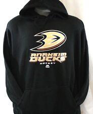 New MAJESTIC Mens Anaheim Ducks Hockey Black Big & Tall NHL Pullover Hoodie