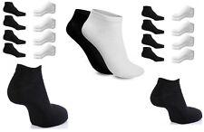 36/12prs Zapatillas Interior Calcetines Tobilleros Hombre Mujer De Algodón