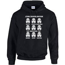 228 Storm Trooper Emotions Hoodie geek dark side sith skywalker yoda jedi