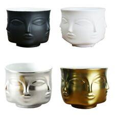 Human Face Ceramic Flowerpot Plants Holder Vase Human Face Abstract Home Decor