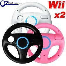 2 x Wii Steering Wheels Nintendo WiiU for use with Mario Cart Free Shipping