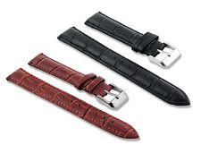 Bracelet de montre en cuir universel 16mm - 18mm - 20mm - 22mm - Noir / Marron