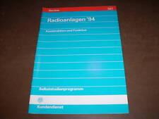 SSP 147 Selbststudienprogramm VW Golf III Radio Radioanlagen '94