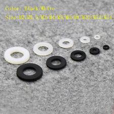 50/100Pcs M2/M2.5/M3/M4/M5/M6/M8/M10/M12/M14 Plastic Nylon Flat Spacer Washer